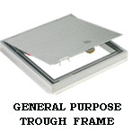 Trough Framed Aluminum Pedestrian Floor Access Door by USF
