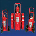 Wheeled Dry Chemical Fire Extinguisher by JL Industries