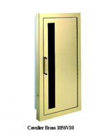 Cavalier Bronze or Brass Fire Extinguisher Cabinet by JL Industries